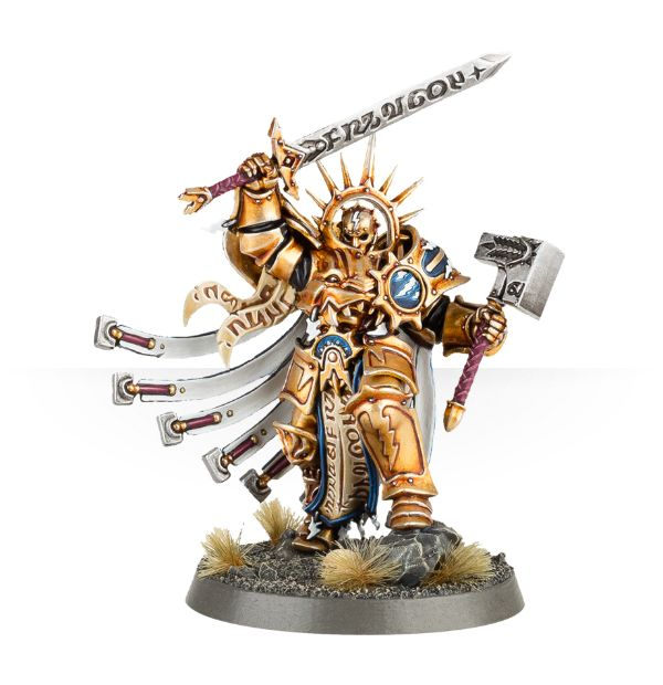 Age Of Sigmar Stromcast Eternals Lord Celestant kit photo painted catalog preview