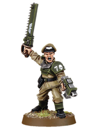 Cadian Officer with Chainsword 2