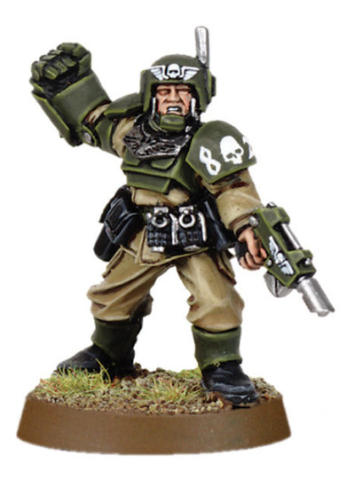 Cadian Officer with Power Fist 1