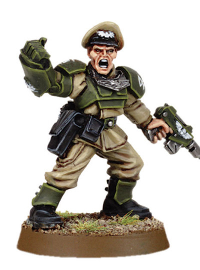 Cadian Officer with Power Fist 2