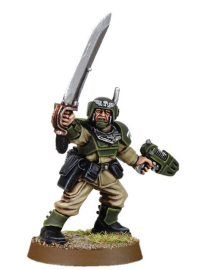 Cadian Officer with Power Sword 1