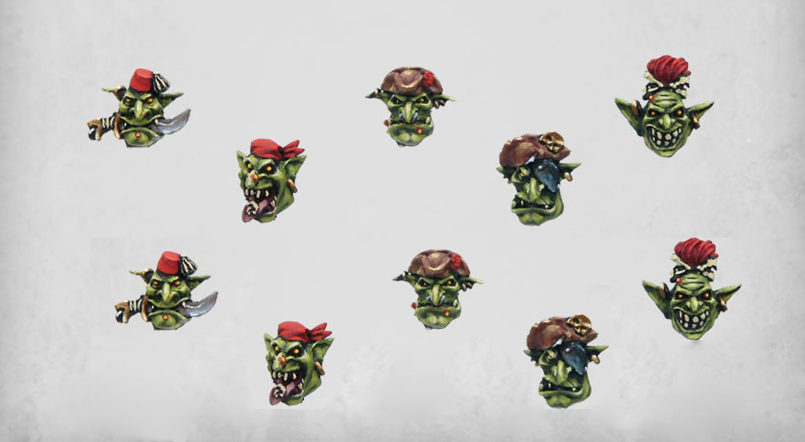 Goblin Pirates Heads x10