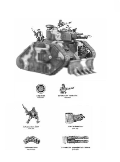 Imperial Guard Leman Russ Exterminator 2000 Upgrade Kit Adapted