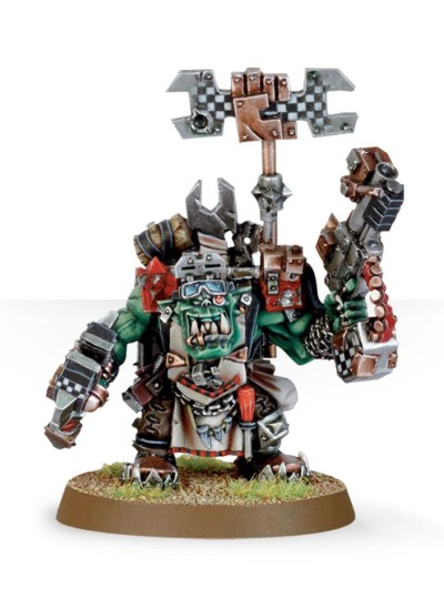 Ork Big Mek with Bosspole