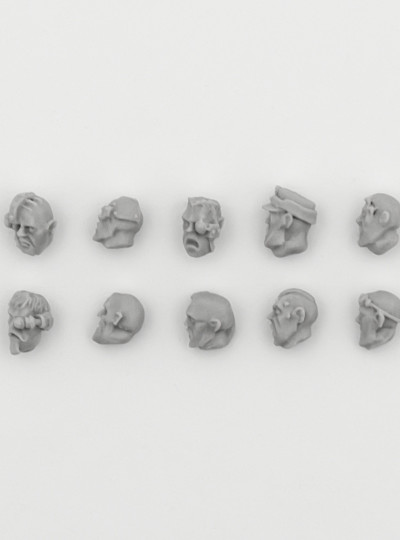 Imperial Guard Veteran Heads