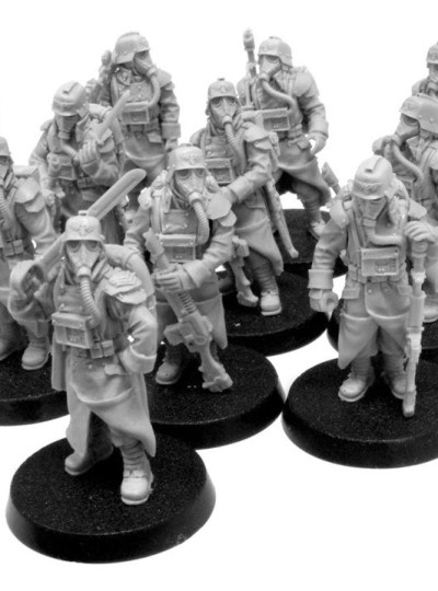 Death Korps of Krieg Infantry Squad at Ease