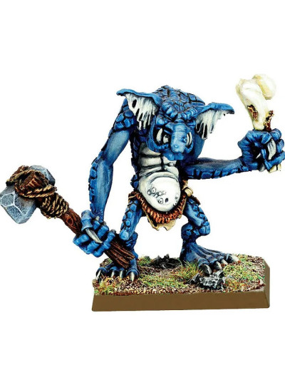 Stone Troll with Stone Axe and Bone Club
